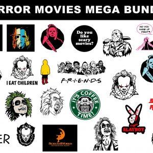 Bundle Horror Halloween Svg, Horror Movies Svg, Horror Halloween , Horror Character svg, Cricut, Digital Download
