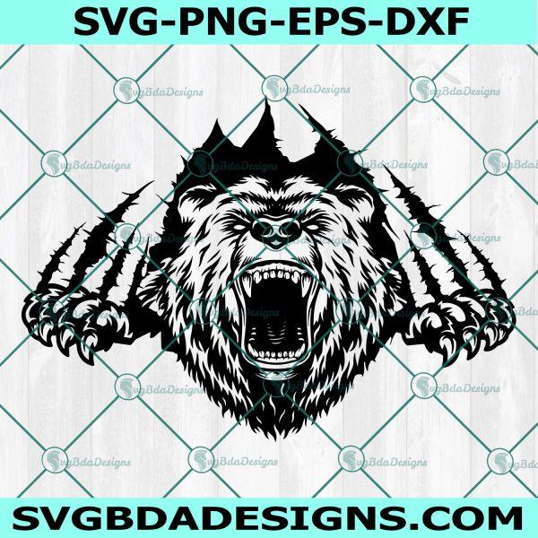 Bear Claws Scratch SVG, Grizzly Bear SVG, Wild Animal Svg, Cricut, Digital Download