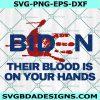 Biden Handprint svg, anti biden svg, biden bloody hand svg, impeach biden Svg, Cricut, Digital Download