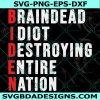 Biden Braindead Idiot Destroying Entire Nation SVG, Anti Joe Biden Svg, Biden Idiot svg, Election 2020 svg, Cricut, Digital Download