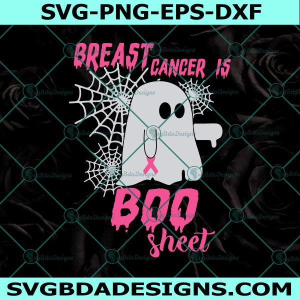 Breast Cancer Is Boo Sheet Svg, Halloween Breast Cancer Awareness Svg, Ghost Svg, Halloween Awareness Svg, Cricut, Digital Download