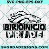 Bronco Pride Svg, Bronco Pride Mascot Sports SVG, HighSchool Mascot, School Football Baseball Svg, Cricut, Digital Download