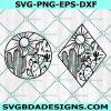 Cactus SVG, Desert Scene svg, Cactus Scene svg, Mountain Scene svg, Cactus Patch svg, Cricut, Digital Download