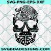 Mexican skull SVG, day of the dead svg, dia de los muertos svg