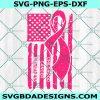 Childhood Cancer Awareness Svg, Ribbon American Flag Svg, Breast Cancer svg, Pink Cancer Awareness, Breast Cancer Ribbon Svg, Cricut, Digital Download