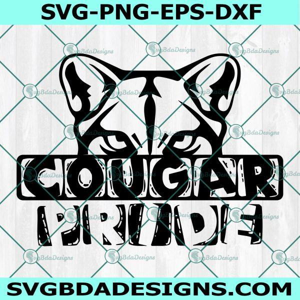 Cougar svg, cougar pride Svg, football svg, soccer svg, basketball svg, Cricut, Digital Download