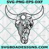 Cow Skull Desert SVG , Cow Skull Cactus svg , Cow Skull svg, Cricut, Digital Download