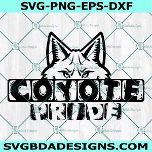 Coyote Pride Svg, Coyote Pride Mascot Sports SVG, HighSchool Mascot svg, School Football Baseball Svg, Cricut, Digital Download