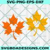 Cute Autumn Leaves Svg, Mouse Heads svg, Mickey Mouse Svg, Disney Svg, Cricut, Digital Download
