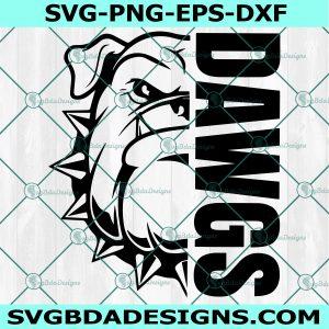 Dawgs svg, Bulldog Pride svg, High School Mascot Svg, School Spirit Svg, Cricut, Digital Download
