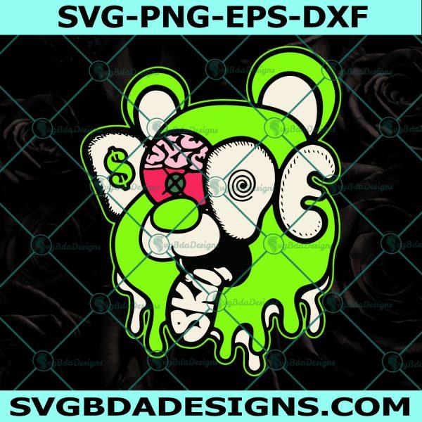 Dope Bear Drip Graphic Match Jordan 6 Electric Green Svg, Cricut, Digital Download