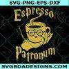 Espresso Patronum SVG, Harry Potter and Coffee Lovers Svg, Wizard Svg, Cricut, Digital Download