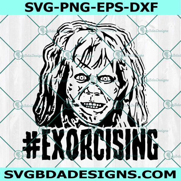 Exorcist Horror Movie SVG, Halloween Movie Svg, Hollywood Villains Svg, Scary svg, Cricut, Digital Download