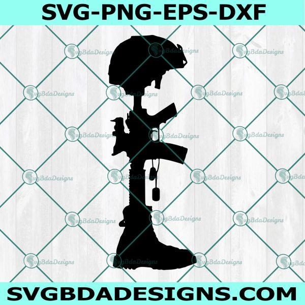 Fallen Soldier Battle Cross Svg, Military Battle Cross Svg, Combat Cross Svg, Battle Cross Svg, Battlefield Cross Svg, Cricut, Digital Download