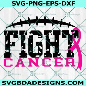 Fight Breast Cancer awareness svg, Football Cancer svg, Awareness SvgBreast Cancer SVG, Cricut, Digital Download