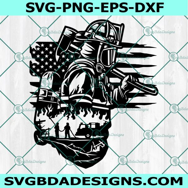 Fire Fighter Dad SVG, Firefighter svg, Fireman svg, Dad Life svg, US Fire Fighter svg, American Flag svg, , Cricut, Digital Download