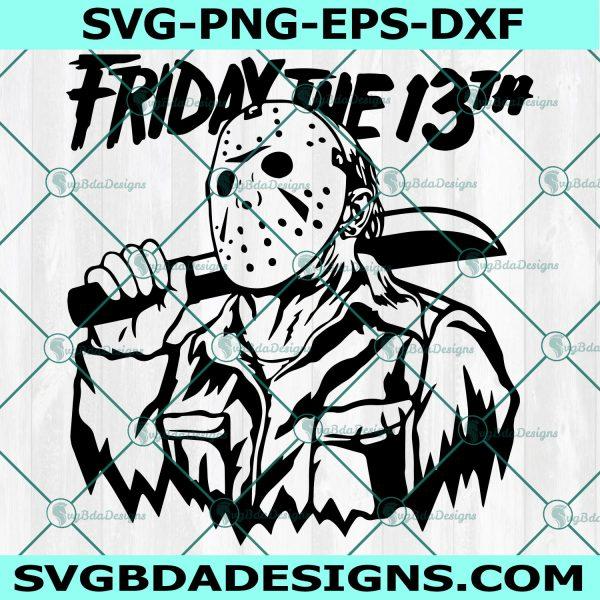 Friday the 13th svg, Jason Voorhees SVG, Horror Character Svg, Halloween Svg, Cricut, Digital Download