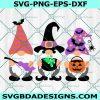 Halloween Gnomes svg, Happy Halloween svg, Witch svg, Boo svg, Cricut, Digital Download