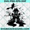 Halloween Scene svg, Haunted House svg, Halloween Svg, Horror svg, Witch svg, Cricut, Digital Download