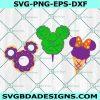 Halloween treats Svg Mickey Doughnut Svg, Cotton Candy Svg, Ice Cream SVG, Halloween Svg, Mickey Mouse Svg, Disney Svg, Cricut, Digital Download