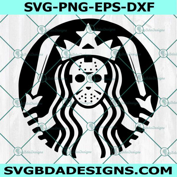 Jason Voorhees Starbucks svg,Jason Voorhees SVG, Friday the 13th svg, Starbucks Coffee Svg , Cricut, Digital Download