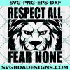 Lion HighSchool Mascot Svg,Respect All Fear None Svg, Lion Svg, School Spirit Svg,Cricut, Digital Download