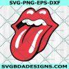 Lips Tongue Logo Emblem Svg, Mouth Tongue Lips Svg, Sexy Lips Svg, Lips TongueSVG, Cricut, Digital Download
