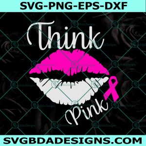Lips breast cancer, Breast Cancer SVG, Awareness ribbon svg, Pink Ribbon svg, Cricut, Digital Download