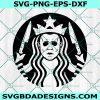 Michael Myers Starbucks Svg, Michael Myers Svg, Starbucks Coffee Svg, Horror Character Svg, Cricut, Digital Download