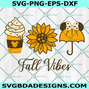 Mickey Mouse Fall Vibes Svg, Thanksgiving Svg, Minnie Mouse Svg, Disney Svg, Cricut, Digital Download