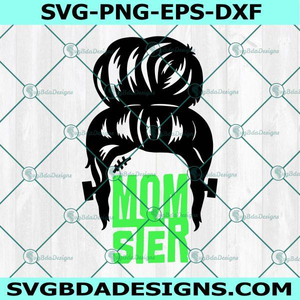 Momster Frankenstein Svg, Halloween SVG, Mom Svg, Messy Bun svg, Monster Svg, Spooky Svg, Cricut, Digital Download