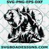 Bear SVG , Grizzly Bear svg, Black Bear svg, Brown Bear svg, Mountain Bear svg, Bear in the Wild svg,Cricut, Digital Download