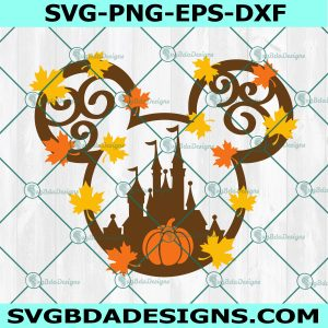 Mouse Fall Castle SVG, Pumpkin Svg Mouss Castle svg,Halloween Svg, Mickey Mouse Svg, Disney Svg, Cricut, Digital Download