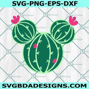Mouse Head Cactus Svg, Cactus Svg, Mickey Mouse Svg, Disney Svg, Cricut, Digital Download