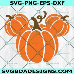 Mouse Head Pumpkins Svg, Halloween Svg, Mickey Mouse Svg, Disney Svg, Cricut, Digital Download
