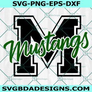 Mustang SVG, High School Mascot Svg, School Spirit Svg, Mustang Pride svg