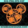 Pumpkin Mickey Head Svg, Fall 2021 Halloween Svg, Halloween Svg, Mickey Mouse Svg, , Disney Svg, Cricut, Digital Download