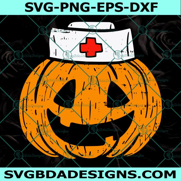 Pumpkin Nurse SVG, Halloween Nurse Svg ,Trick Or Treat Svg, Spooky Svg, halloween svg, Cricut, Digital Download