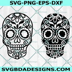 Skeleton Sugar Skull svg, Sugar Skull Svg, day of the dead svg, dia de los muertos svg, Cricut, Digital Download
