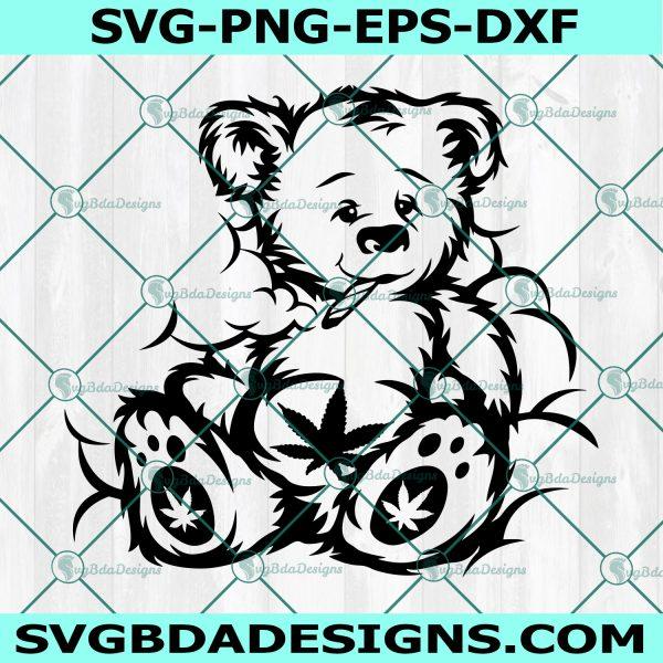 Smoking Bear svg, Cannabis Bear svg, Cannabis svg, Weed svg,Cricut, Digital Download