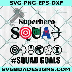 Superhero squad svg, Superhero logo svg, Marvel Svg, Avengers Svg, hulk svg, Thor Svg, Spiderman Svg, Captain Svg,, Cricut, Digital Download