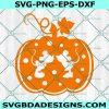 Thanksgiving Mickey Minnie in Pumpkin Svg, Thanksgiving Svg, Halloween Svg, Mickey Mouse Svg, MInnie Mouse svg, Disney Svg, Cricut, Digital Download