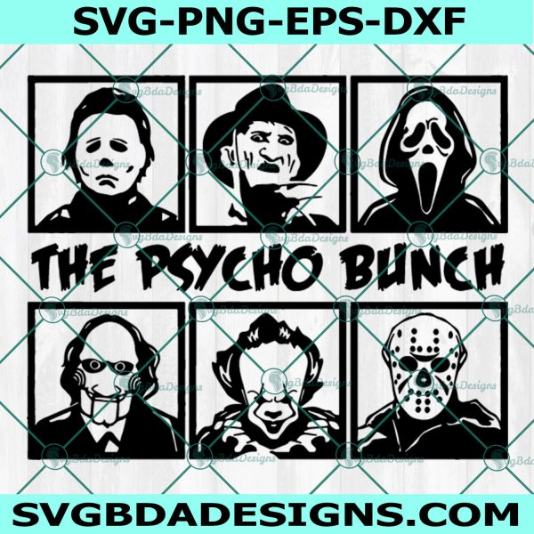 The Psycho bunch Svg, Horror movies Svg, Horror Character Svg
