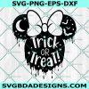 Trick or Treat MinnieSvg, Mouse Bat Svg, Halloween Mouse Head Svg, Halloween Svg, Minnie mouse svg, Cricut, Digital Download