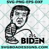 Trump Peeing on Biden Svg , Trump peeing svg, Trump Pissing on Biden Svg , anti biden svg, impeach biden Svg, Cricut, Digital Download