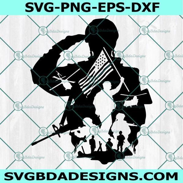 US Soldier SVG File, Military svg, Veteran Soldier svg, US flag svg, Remembering our Military heroes Svg,Cricut, Digital Download