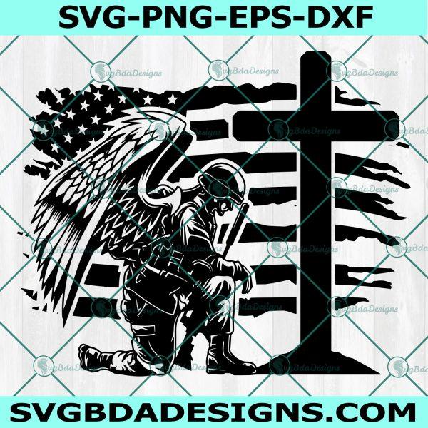 US Soldier Kneeling at cross Svg, Fallen Soldier Svg, Kneeling at Memorial Svg, US Soldier Kneeling Praying Svg, Cricut, Digital Download