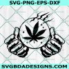 Weed Crystal Ball SVG File, Cannabis Crystal Ball svg, Crystal Ball svg, Cannabis Svg, Cricut, Digital Download