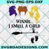 Winnie i smell a child witch svg, hocus pocus svg, witch halloween svg, Sanderson Sister Svg, Cricut, Digital Download
