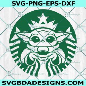 Baby Yoda Starbucks Svg, Baby Yoda Chrismas, Baby Yoda svg, Disney Chrismas Svg, Cricut, Digital Download